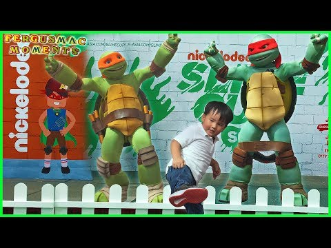 Teenage Mutant Ninja Turtles Michelangelo and Raphael at Nickelodeon Slime Cup Singapore