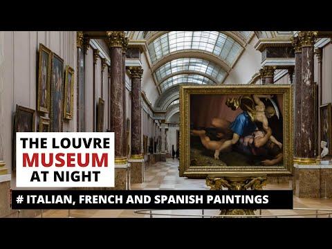 Louvre museum. Mona Lisa. Italian paintings. Visit Louvre at night.