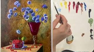 Подготовка холста для рисования маслом. (2-й сеанс или дорисовка картины)