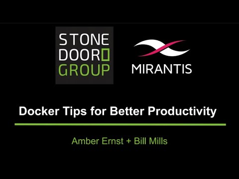 Docker Tips for Better Productivity Webinar Recording
