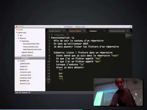 BDD (en PHP avec Behat/Mink)