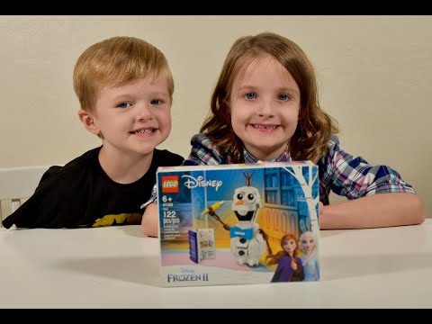 LEGO OLAF! Everyone's favorite snowman! Build and review by Sofia & Felipe!