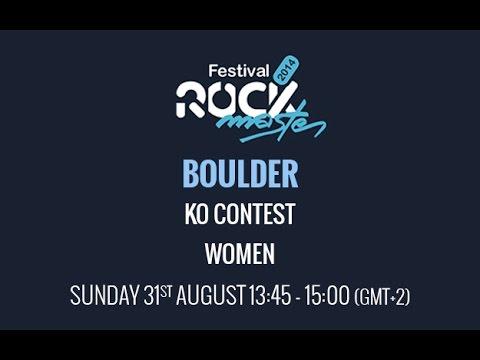 Rock Master Arco 2014 - Boulder - KO Contest - Women