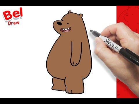 رسم شهاب بالخطوات كرتون الدببة الثلاثة تعليم الرسم للاطفال