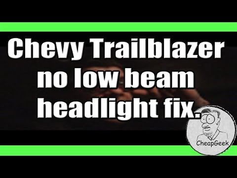 Chevy Trailblazer headlights don\u0027t work + HDM input/output testing