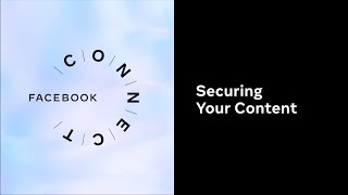 Securing Your Content l Facebook Connect