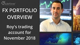FX Portfolio Overview. Roy's trading account for November 2018. Canadian dollar, Euro, US Dollar.