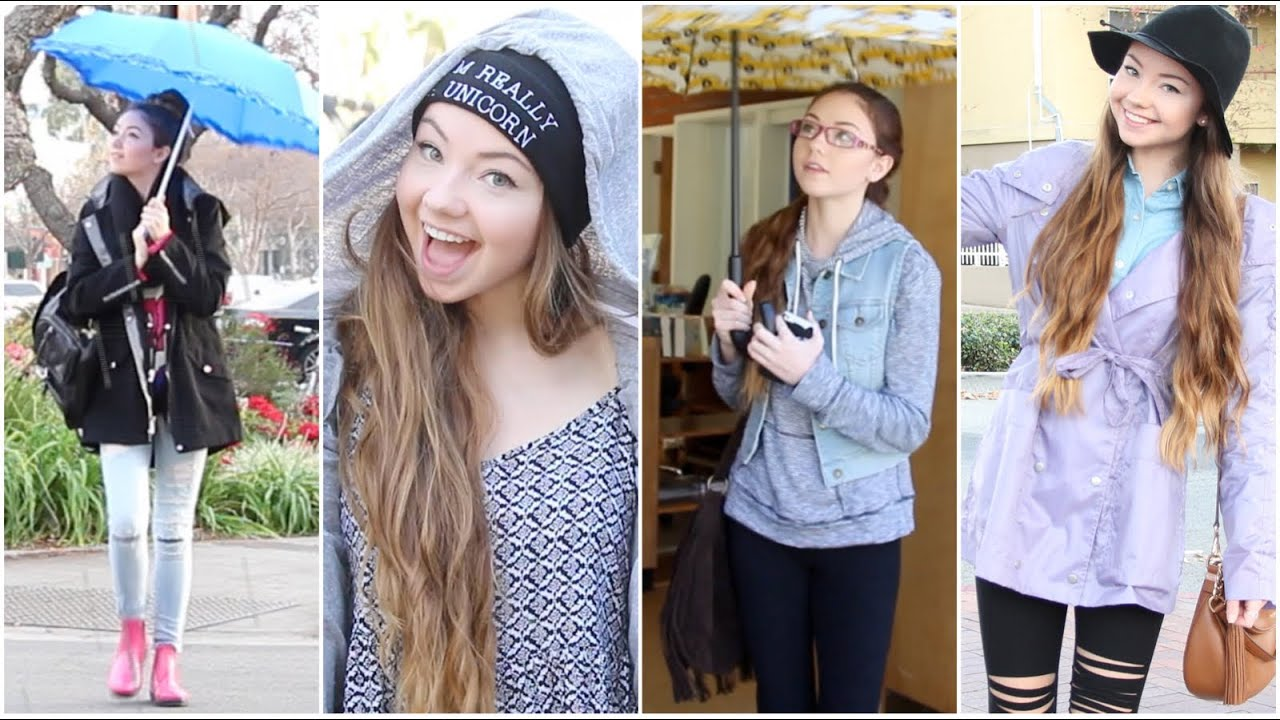 Rainy Day Outfit Ideas! 2014 - YouTube