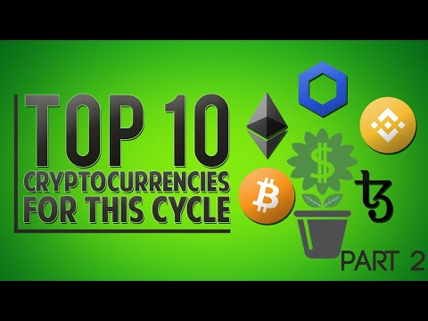 List the top 10 cryptocurrencies