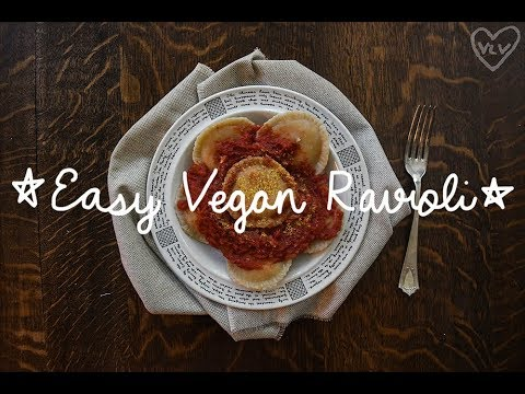 5 Ingredient Easy Vegan Ravioli