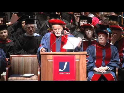 Juilliard Commencement 2012--Athol Fugard, Speaker