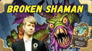 Savjz is trying new Shudderwock Broken shaman deck (The Witchwood)