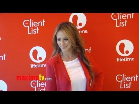 "Jennifer Love Hewitt ""The Client List"" Season 2 Premiere Valentine's Day Breakfast ARRIVAL"