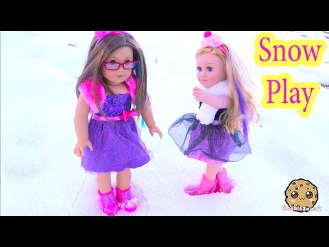 Snow Play Boots + Dresses Clothing Review for American Girl + My Life As Cupcake Baker Doll