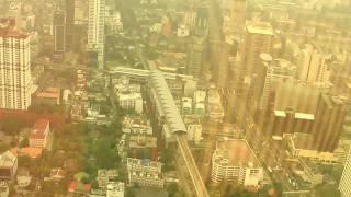 Skyscrapers in Bangkok. View from Bayoke sky