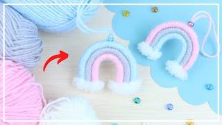Секрет Легкого Изготовления РАДУГИ из Ниток 🧶🌈 Amazing Rainbow of yarn - Making Idea 🌟DIY NataliDoma