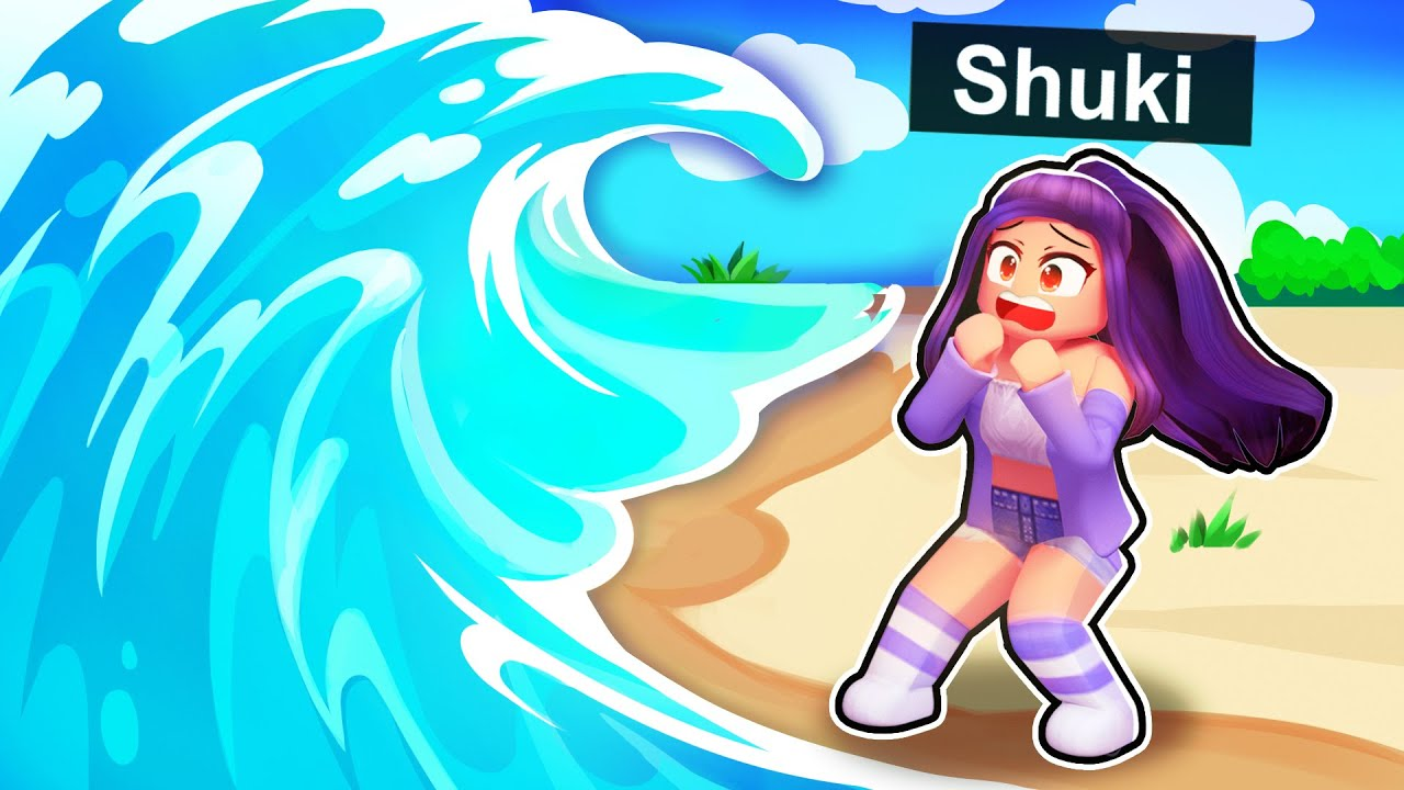 Girl Waving Roblox We Re Stranded By A Tsunami In Roblox Youtube