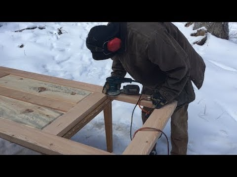 Download Youtube: TIMBER FRAME BUILD -- handmade doors from milled slabs (with joinery)