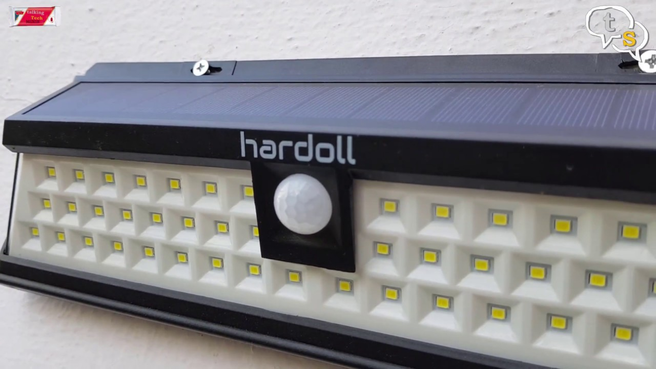 Hardoll 54 led solar light youtube hardoll 54 led solar light aloadofball Images