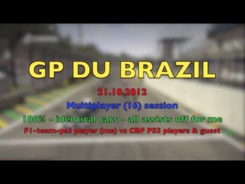 F1 2012 I Brazil I Multisession Online 100%  I Redbull I F1 Team PS3 vs CBF PS3.mp4