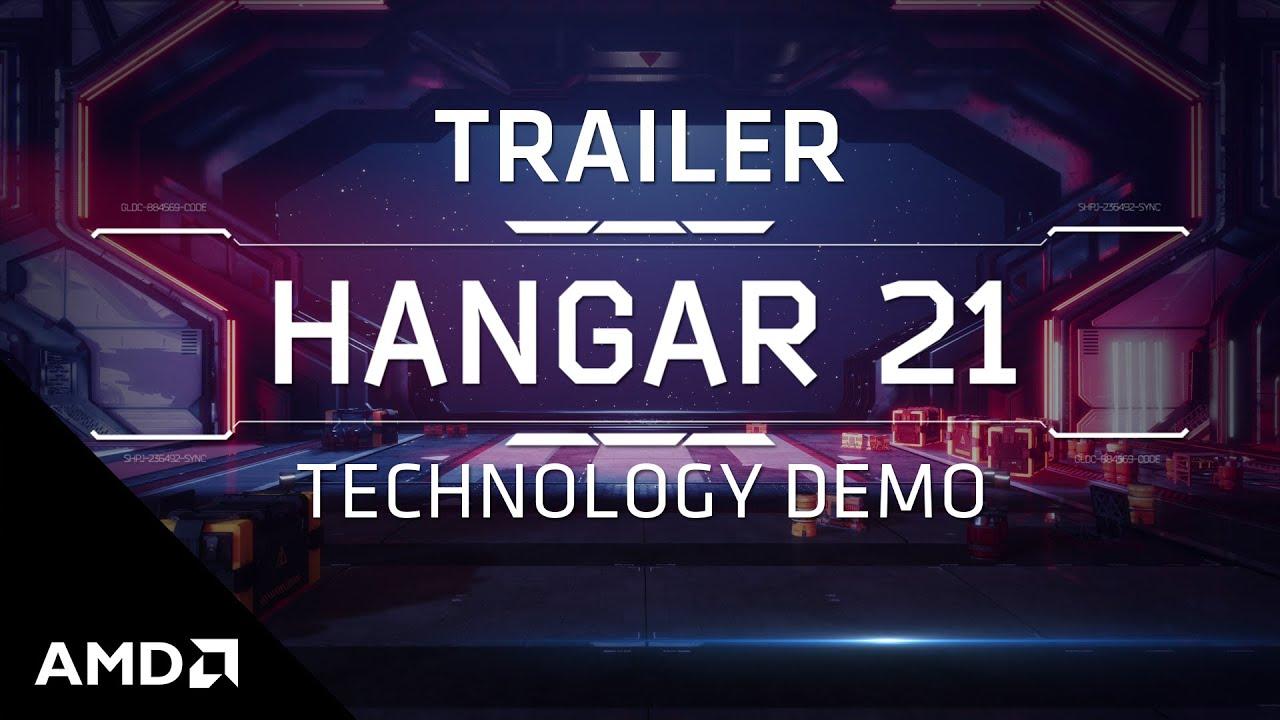 """AMD RDNA™ 2 """"Hangar 21"""" Technology Demo Trailer"""