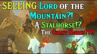 SELLING Lord Of The Mountain?! A Stalhorse!? The GIANT Horse??!! Rupees In Zelda Breath Of The Wild