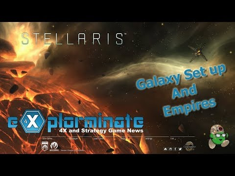 Let's Play Stellaris Apocalypse. Fan Made Empire(s) and Galaxy set up |