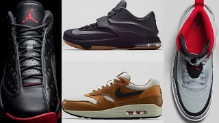 Jordan 13 Black Gym Red, KD VII EXT Suede, Air Max 90 Escape, and more on Heat Check