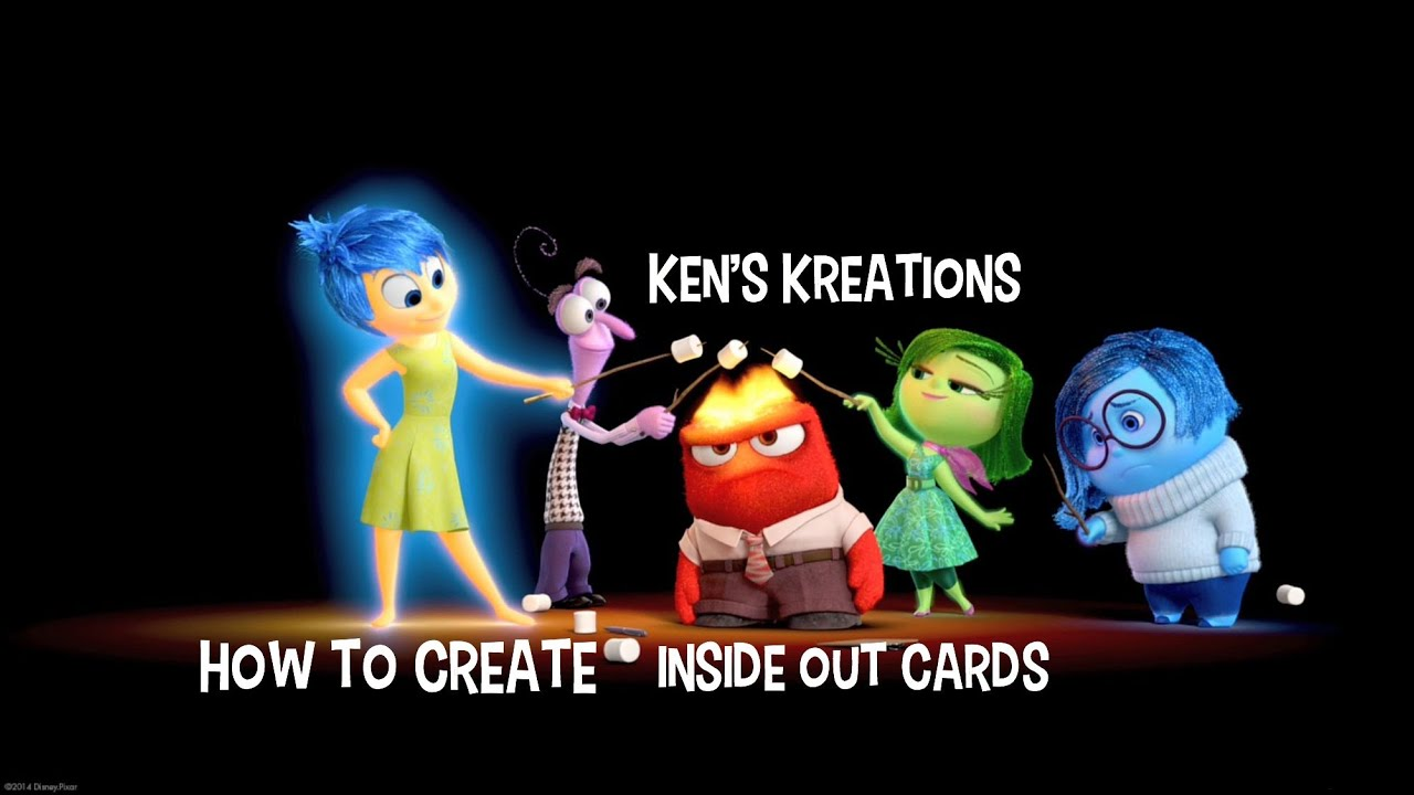 Pixar Inside Out Cards - Christmas in July #Cards4Love - YouTube