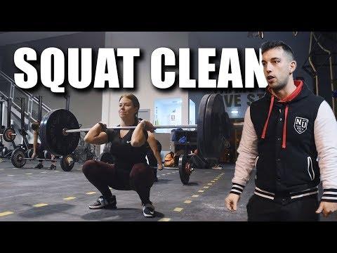 Trabajo de squat clean en Crossfit Betulo (Halterofilia)