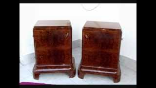 Art Deco Furniture. Bedside Cabinets.
