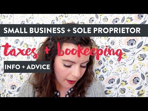 Small Business Taxes - Etsy Shop - E-Commerce - Sole Proprietor