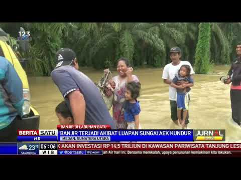 Banjir Di Labuhanbatu Akibat Luapan Sungai Aek Kundur