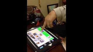 無言語の娘、iPadで表現する練習中。 カフェオレくださーい!(*^^*)