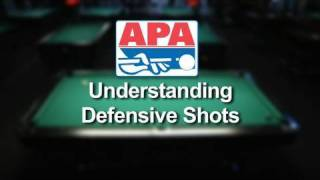 Understanding defensive shots while playing pool in the APA Pool League.