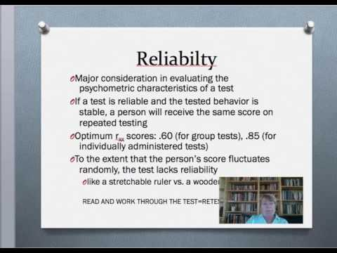Reliability, Validity, and Norms VL