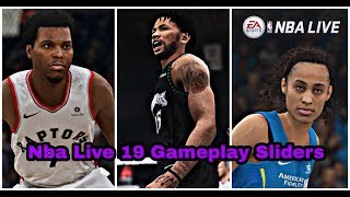 Nba Live 19 Gameplay Sliders For A NBA Live Simulation Experience.