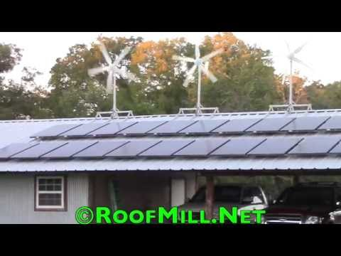 RoofMill™ Home Wind Turbine – Small Wind Turbine with Solar