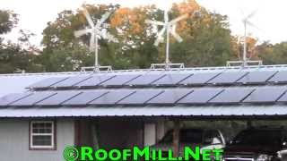 RoofMill™ Home Wind Turbine - Small Wind Turbine with Solar
