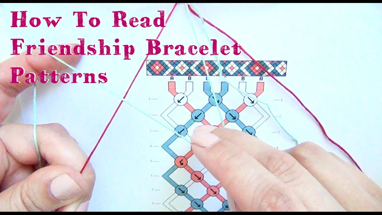 How To Read Friendship Bracelet Patterns Tutorial