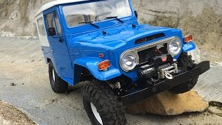RC Scale Crawler 4x4 - Testing the performance of the Toyota FJ40