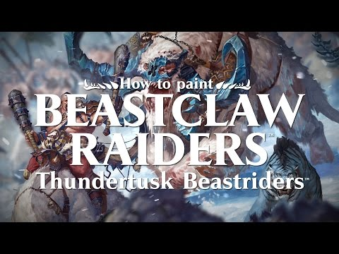How to paint Beastclaw Raiders - Thundertusk Beastriders.