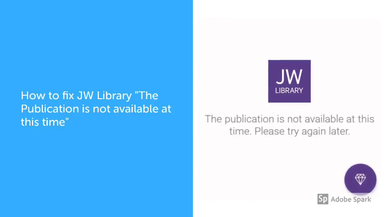 How to fix JW Library The publication is not available at this time