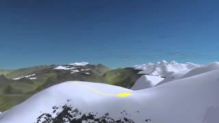 Ascension du mont Blanc, arête des bosses : voie normale côté français.