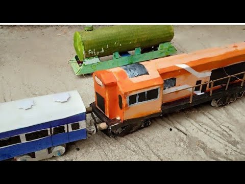 HOW TO MAKE WORKING INDIAN MODEL TRAIN LOCOMOTIVE AT HOME