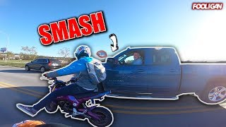 Truck vs. Groms (Road Rage) | Driver Hits Two Bikers!