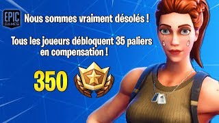 COMPENSATION OF BUG OF 35 PALIERS ON FORTNITE...