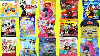 Blind Bags Opening Toy Surprises Disney TSUM Ryans Jellies Mickey Minnie Mouse Trolls Minions TOYS