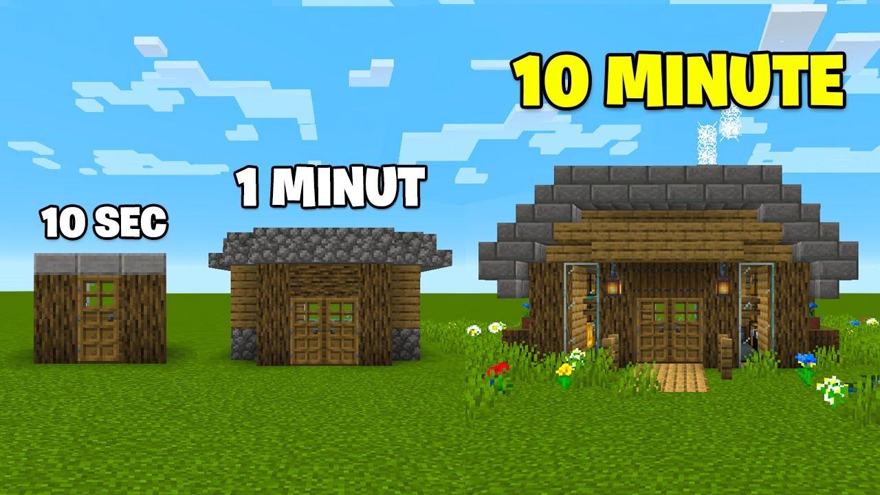 Fac o CASĂ în 10 SECUNDE 1 MINUT, 10 MINUTE!