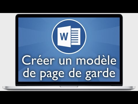 tutoriel word 2013 cr er un mod le de page de garde youtube. Black Bedroom Furniture Sets. Home Design Ideas